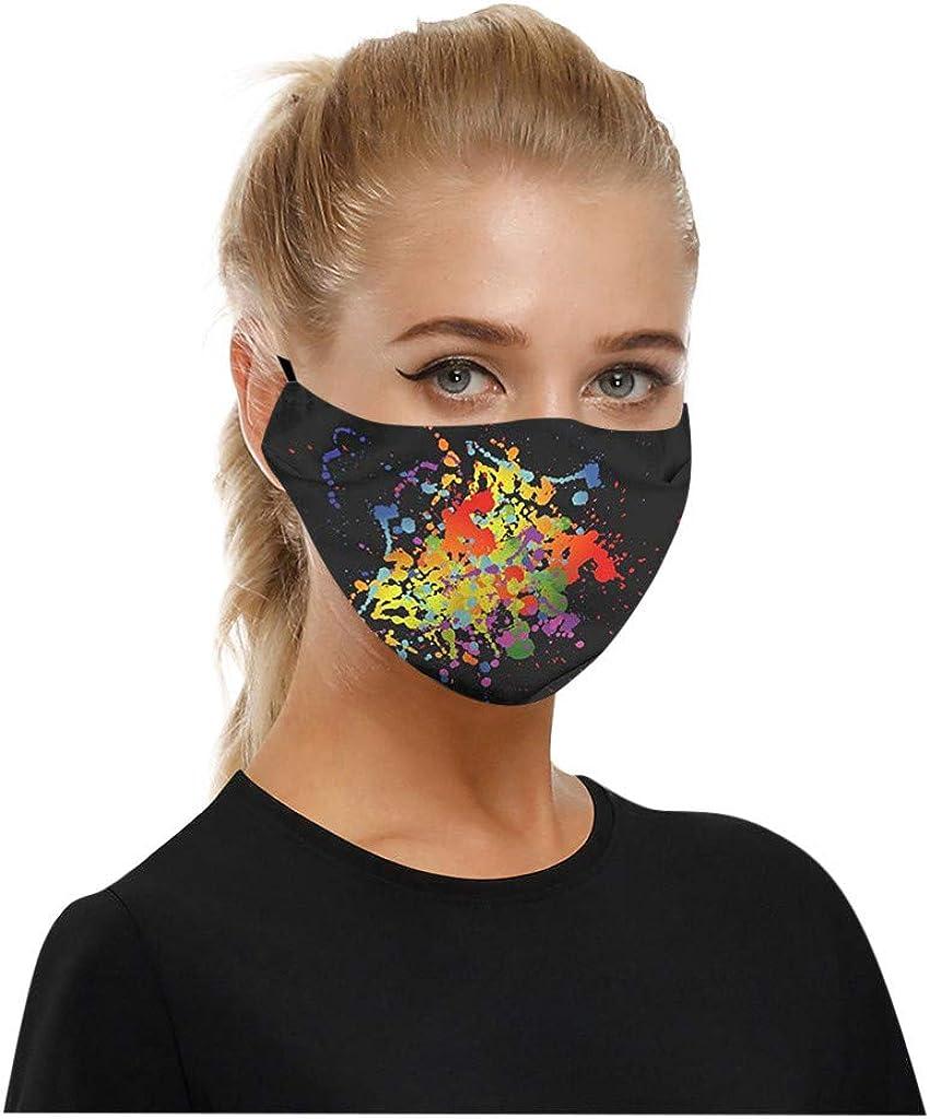 YBWZH 2PC Tissu en Coton Imprim/é Lavable pour Hommes Et Femmes /élastique Multicouche 3D Outdoor Anti-Poussi/ère Bandanas /Écharpe