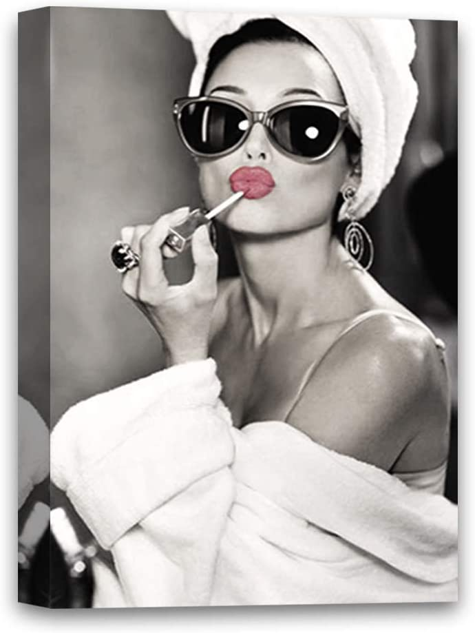 Audrey Hepburn Canvas Wall Art for Home Décor The Picture Print On Canvas Pretty Lips Cute Hepburn Art 8