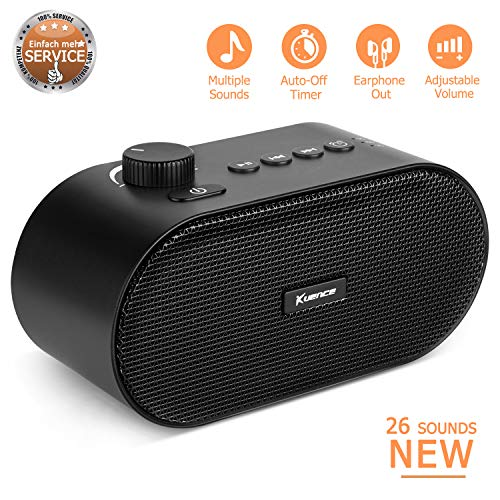 White Noise Machine, Noise Sound Machine, Sleep Sound Machine with 26 Unique Natural and Soothing Sounds for Baby Sleeping, Portable Auto Off Battery or Adapter Charging Powered for Home Office Travel