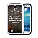 Hybrid Custom Phone Cases Basketball Games Samsung Galaxy S4 Cases Covers with Stephen Curry Inspiring Quote Design #54 gifts for men