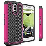 Moto G4 Case, Moto G4 Plus Case, Moto G (4th Gen.) case CoverON [HexaGuard Series] Slim Hybrid Hard Phone Cover for Motorola Moto G4 Plus Moto G4 Moto G (4th Gen.)- Hot Pink
