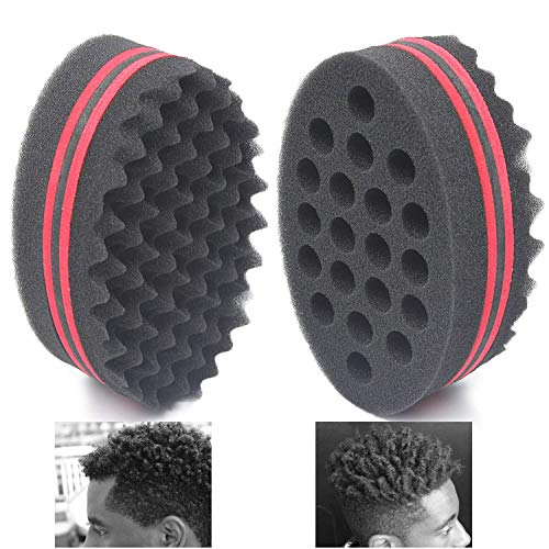 AIR TREE Big Holes Magic Barber Sponge Brush Twist Hair For Wave,Dreadlock,Coils,Afro Curl As Hair Care Tool 7 & 16 Mm Hole Diameter Suitable For Curly Hair (1 ()