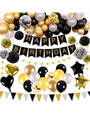 vamei 136-stks Eenhoorn Verjaardag Decoraties Meisjes Eenhoorn Ballon Arch Inclusief Eenhoorn Foil Ster Ballon Fringe Pastel Gordijn voor Meisjes Volwassen Eenhoorn Verjaardag Bruiloft Feestartikelen