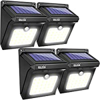 Solar Lights Outdoor,Solar Motion Lights 400LM,BAXIA TECHNOLOGY Waterproof Wireless Bright 28 LED Motion Sensor Security...