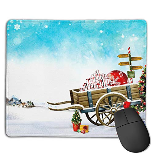 Teesofun Unique Mouse Pad Santa Claus Sleigh Logo Rectangle Rubber Mousepad 8.66 X 7.09 Inch Non-Slip Gaming Mouse ()
