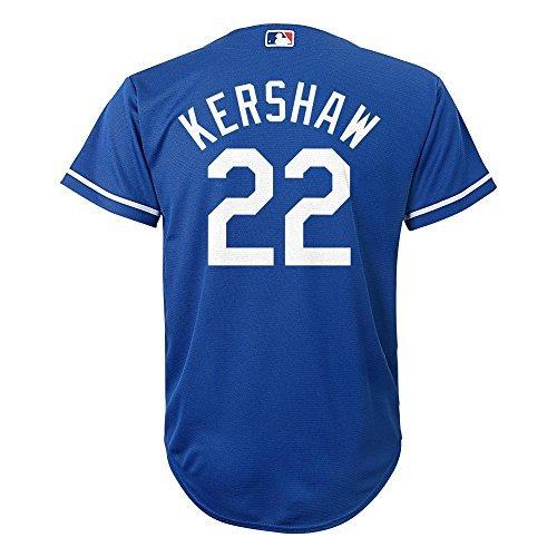Clayton Kershaw Los Angeles Dodgers #22 MLB Youth Cool Base Alternate Jersey Blue (Youth Medium 10/12)