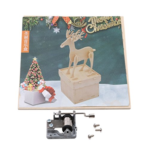SONGLIN Rotating Music Christmas Gift Music Box Indoor Decoration for Friends A Great Gifts (Wood Color Deer) by SONGLIN (Image #7)