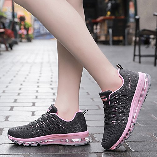 Running Athletic Sports Gym Trainers Sneakers Mens Pink Tqgold Womens Fitness Shoes fWwB67ZOqx