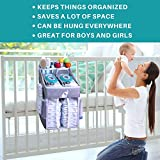 Hanging Diaper Caddy – Crib Diaper Organizer