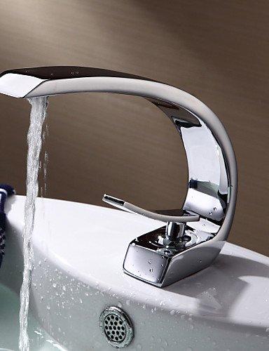 Waschbecken Wasserhahn im modernen StÖl einzigen Handgriff ein Loch mit warmen und kalten Wasserhahn