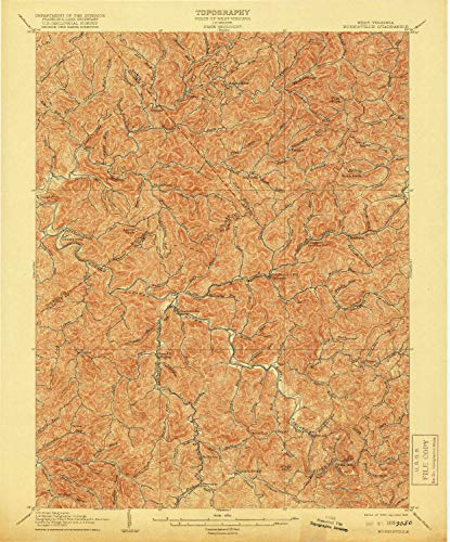 1906 Gem - YellowMaps Burnsville WV topo map, 1:62500 Scale, 15 X 15 Minute, Historical, 1906, Updated 1919, 19.9 x 16.5 in - Polypropylene