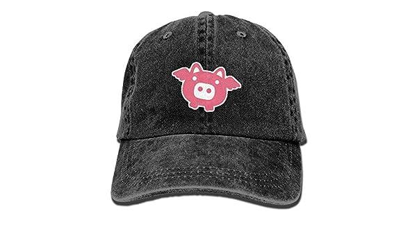1461d0462c5a0 Amazon.com  Danlive Baseball Cap Pink Pig - Adjustable Trucker Hat Cotton  Denim
