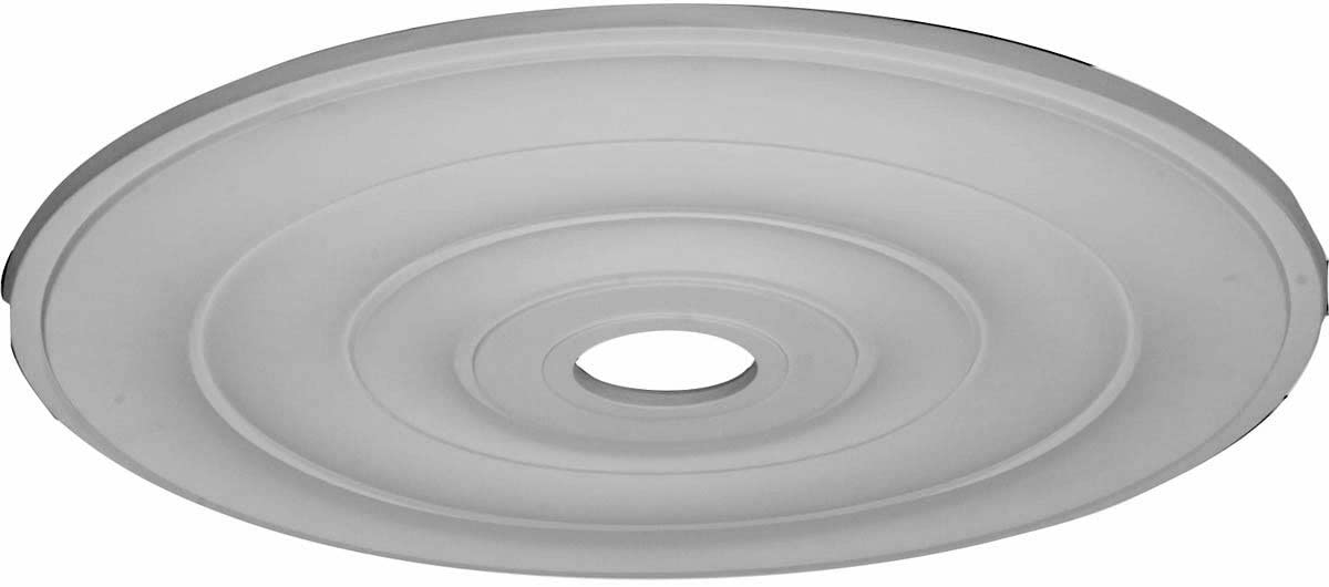 Ekena Millwork Cm26je Jefferson Ceiling Medallion 26 1 2 Od X 3 5 8 Id X 1 1 2 P Fits Canopies Up To 5 Factory Primed Decorative Ceiling Medallions Amazon Com