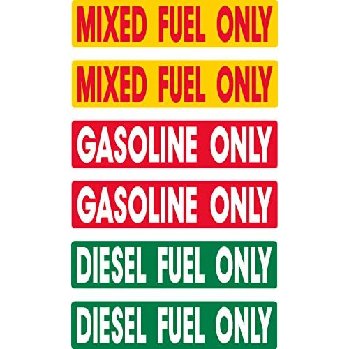 Discount Diesel, Gasoline, Mixed Fuel, prime, fast delivery, 6 pack, waterproof, laminated, UV fade protected, alert, warning, caution, notice, stickers, decals, for vehicle, car, truck, barrel, can, sign for sale
