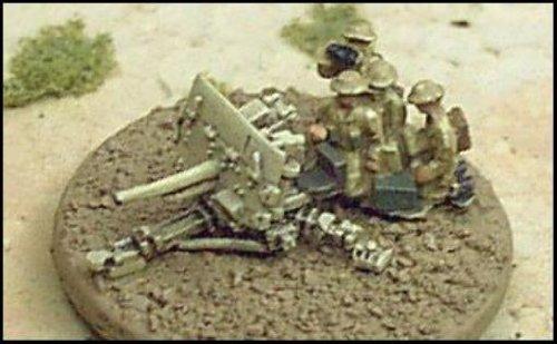WWII Micro Armour - United Kingdom - 2 Pounder Anti-Tank Guns w/Crews & Prime Movers