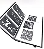 Tattoo Stencil - Various patterns - New Henna Designs- 63pcs (Include a Storage Book)