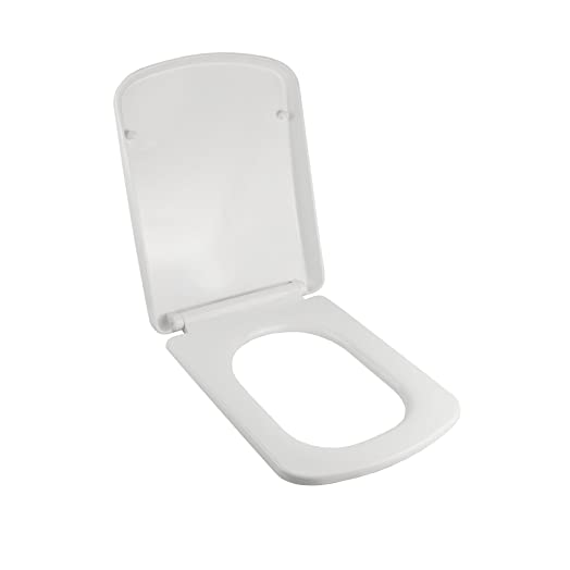 square toilet seat uk. LUXURY SQUARE CUBE SOFT CLOSE HEAVY DUTY TOILET SEAT WITH FIXING