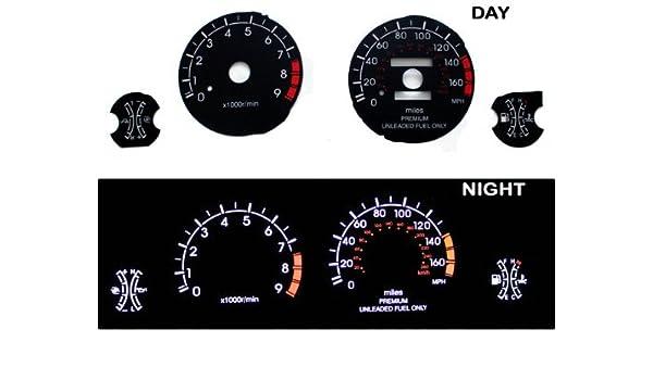 Amazon.com: 1995-1999 Mitsubishi Eclipse GTS GSX Turbo Black Indiglo Glow Gauge 95 96 97 98 99: Home & Kitchen