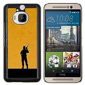 EJOOY---Cubierta de la caja de protección para la piel dura ** HTC One M9Plus M9+ M9 Plus ** --Metal Gear Naranja