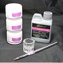 US Seller ~ 6 in 1 Nail Art Kit Acrylic Liquid Powder Pen Dappen dish set #46 (A) by WindMax