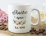 Auntie Again Est 2019 Mug, Auntie Again Gifts, Second Baby Announcement Mug, Pregnancy