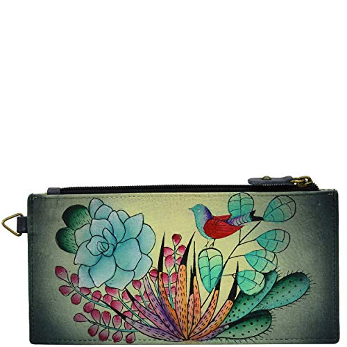Anna by Anuschka Organizer Wallet | Genuine Leather | Succulent Dreams