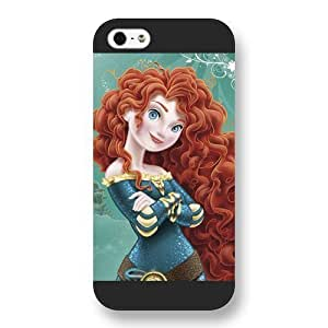 Customized Black Frosted Disney Brave Princess Merida Iphone 5/5S Case Cover
