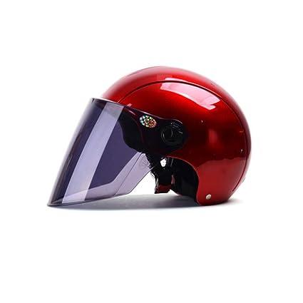 Red Four Seasons Casco universal para motocicleta Casco medio deportivo Casco eléctrico para automóvil Casco deportivo