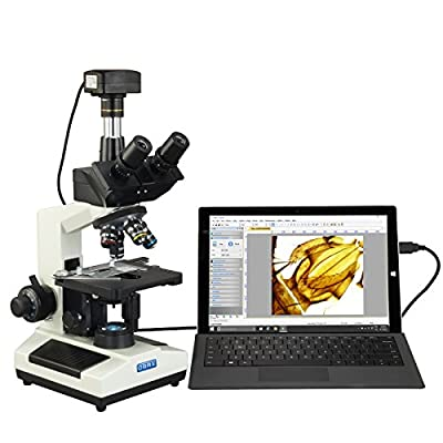 OMAX 40X-2500X USB 3.0 Super Speed 18MP Digital Compound Trinocular LED Lab Biological Microscope