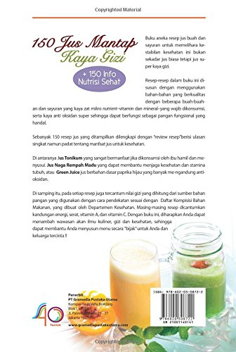 Amazon Com 150 Jus Mantap Kaya Gizi Indonesian Edition