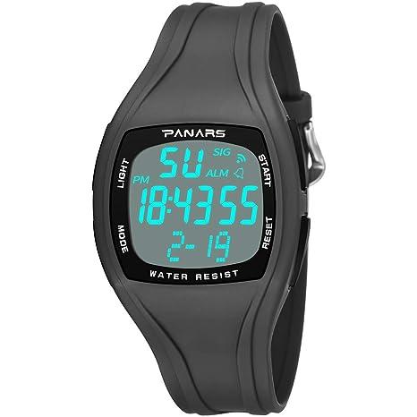 YOLANDE Reloj Digital, para Hombre, para Actividades al Aire Libre, Deportivo, Sumergible