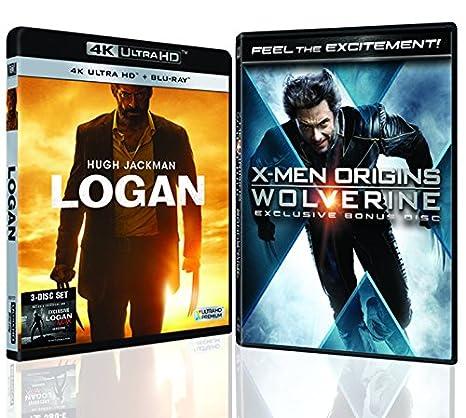 Logan & Logan Noir 4K UHD & HD 3-Disc Premium Pack + X-Men Origins ...