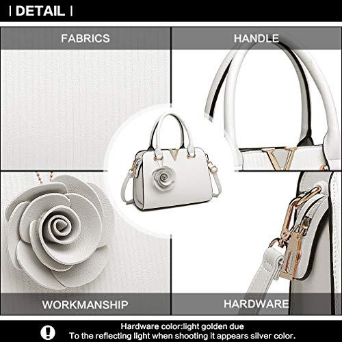 Donne pelle Bag Charm in Shape V Fiore Noi Quilting Handle Pu Miss borsa Lulu Top Moda Crossbody Elegante verticale Lg1848 Piccola 57qWg