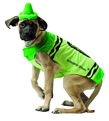 Rasta Imposta Crayola Green Dog Costume, X-Small