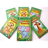 Pack of 12 Jungle Theme Mini Spiral Notebooks - Childrens Party Bag Toys