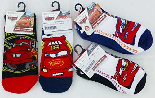 Disney Pixar Cars Set of 8 Anklet Child Socks - Anklets Sock (Size 6-8 / Shoe 10.5-4)