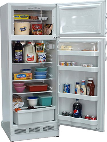 New Diamond Designer 10 Cu Ft Gas LP Propane White Top Freezer Refrigerator