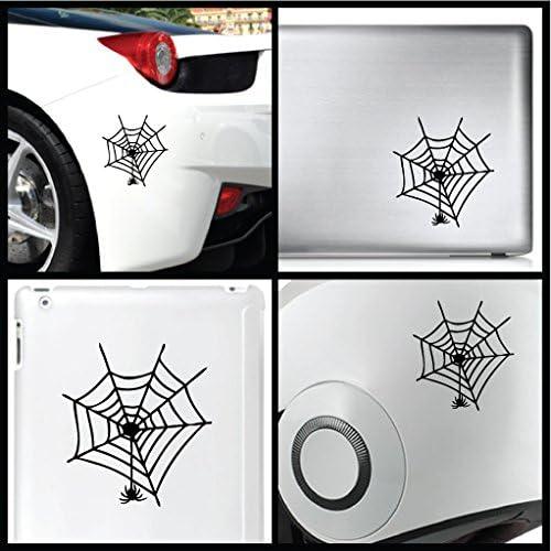 leononlinebox Spider Web 12cm Black Bike Helmet Vinyl Sticker for Car iPad Animal Decal MacBook Laptop