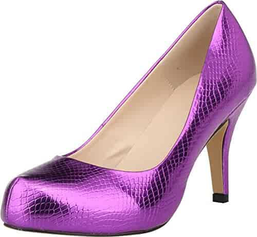 Womens Latin Dance Evening Ballroom Shoes Tango Cha-cha Salsa T-Straps 0021 Purple US Size5.5 3IN
