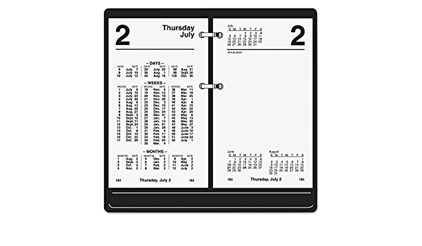 S1705021 2021 Daily Desk Calendar Refill by AT-A-GLANCE 3-1//2 x 6 Financial