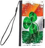 Rikki Knight Shamrock On Irish Flag Grunge Design, Cell Phone Case for Samsung Galaxy S6 - Black