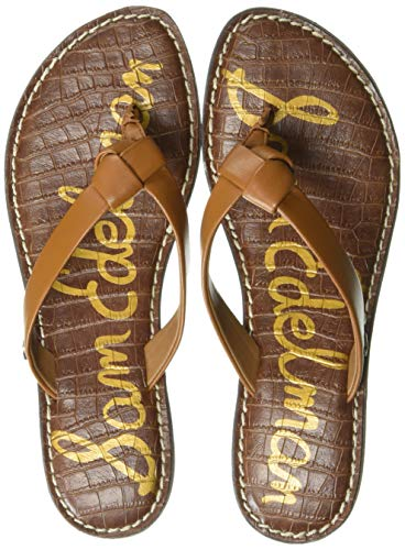 Sam Edelman Women's Giles Flip-Flop Saddle Leather 8 M US (Best Leather Flip Flops)