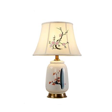 Lámpara de mesa de tela lámpara de mesa de estudio ...