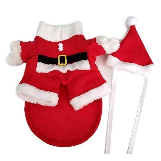 VOVOL Disfraz de Papá Noel para perro, disfraz de Navidad ...