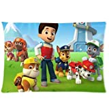 Custom Paw Patrol Pillowcase Rectangle Zippered Two Sides 20x30 pillows Throw Pillow Cover Cushion Case Covers