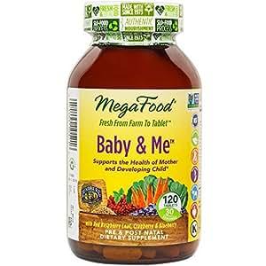 MegaFood - Baby & Me, Prenatal & Postnatal Support for Mother & Baby, 120 Tablets (FFP)