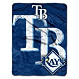 MLB Tampa Bay Rays Micro Raschel Plush Throw Blanket, Trip Play Design