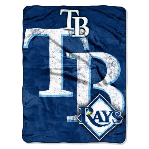 Blanket Throw Micro 50x60 Raschel (Officially Licensed MLB Tampa Bay Rays Triple Play Micro Raschel Throw Blanket, 46