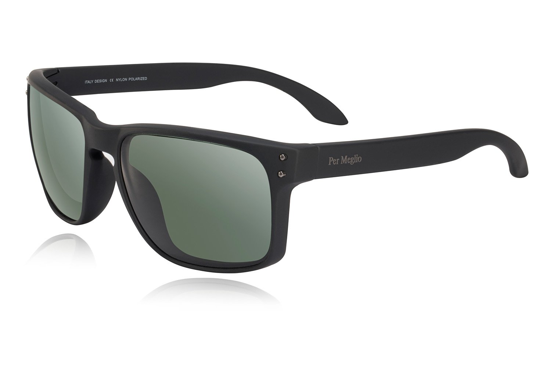 Polarized Sunglasses for Men 100% UV Protection Wayfarer Sun Glasses for Driving Men Clear Vision - Rectangular TR90 Frames by Per Meglio (Image #1)