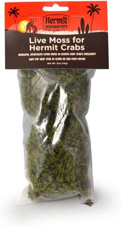 Fluker's Live Moss for Hermit Crabs, 0.5-Ounce